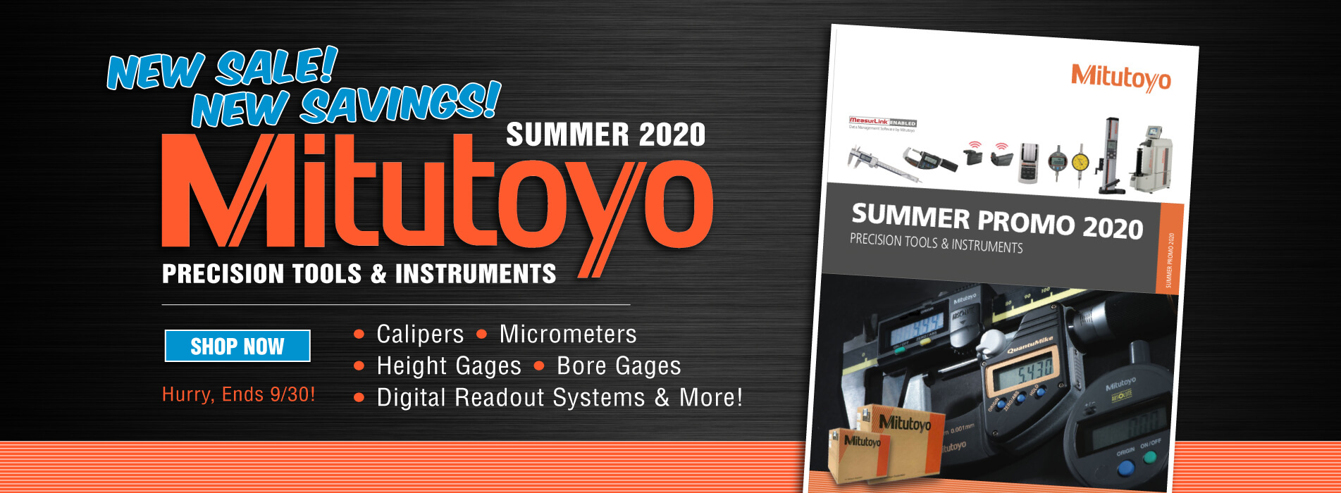 Mitutoyo Spring Sale until September 30th