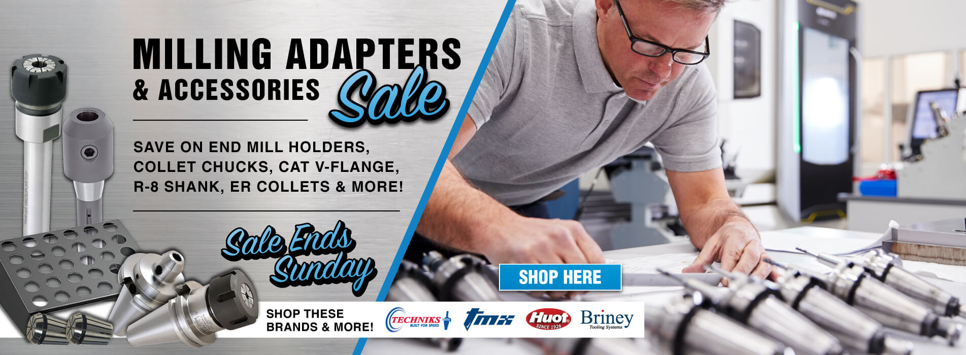 Milling Adapters and Accessories Sale