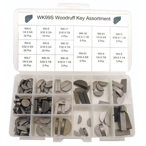 """WK18 WOODRUFF KEY 3//16/""""X1 1//4/"""""""