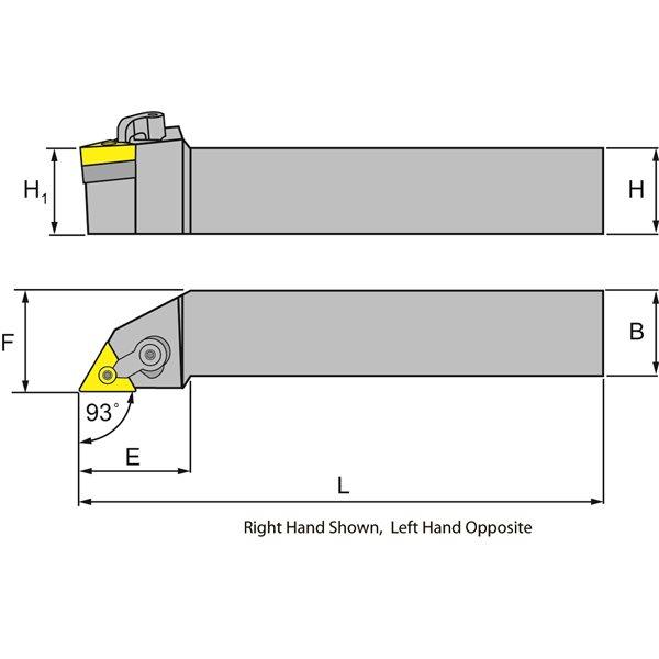 MVJNR 16-3D Toolholder