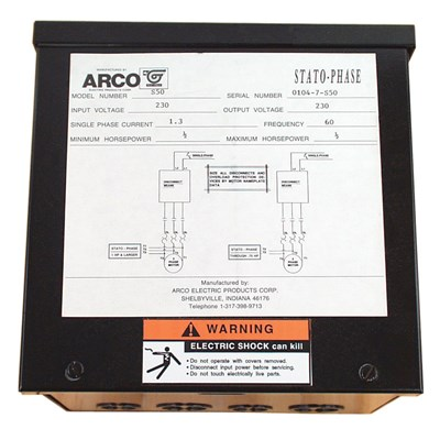 ARCO STATO-PHASE 1/2HP CONVERTER