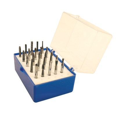 USA 25PC 1/8 CARBIDE BURR SET 1/8 SHANKS