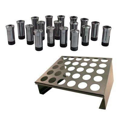 5C RACK&18PC 5C COLLET SET