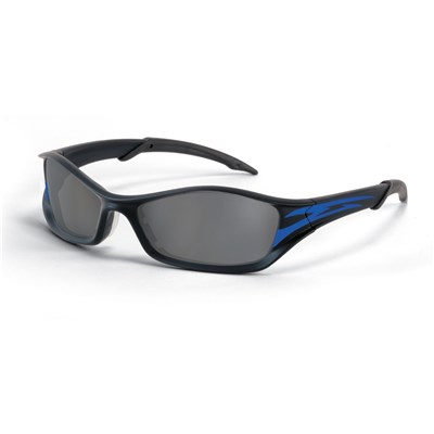SAFETY GLASSES ONYX FRAME GREY LENS