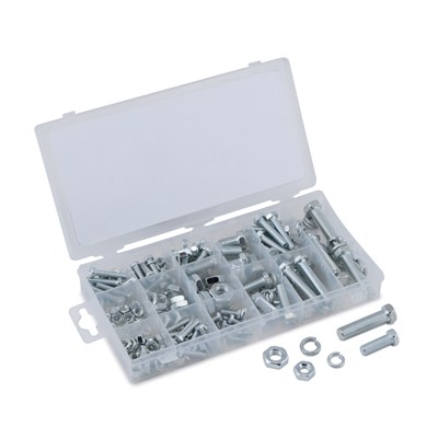 TEKZ 240PC ZINC USS NUT & BOLT ASSORT.